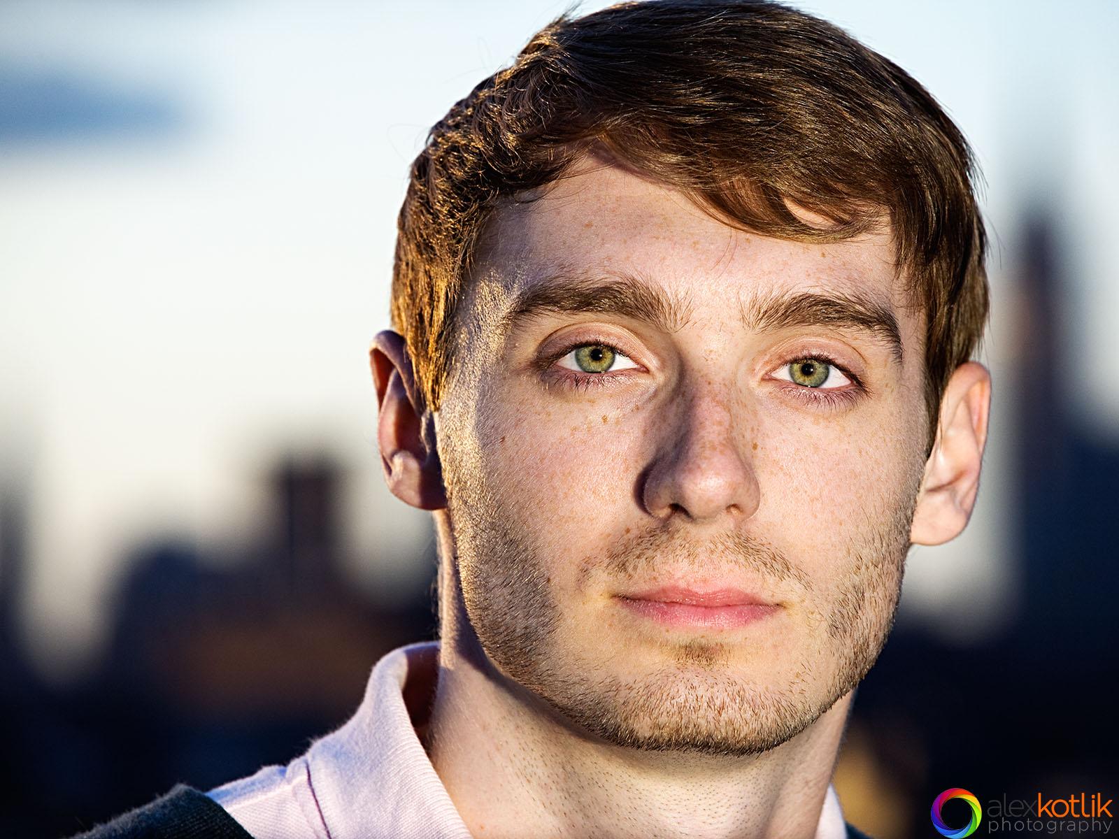 headshot of Scott, actor and model